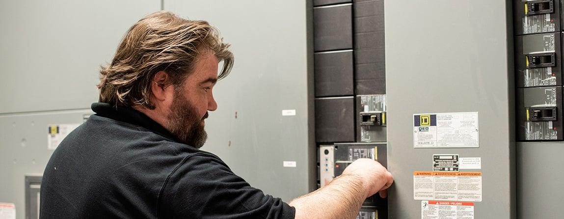 Don Dumdai doing electrical hotel maintenance